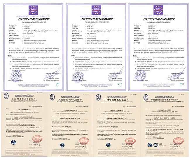 Certificatevage pivotante universelle