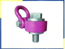 Fini Heavy Duty pivotant Palan Bague rose WLL30T en alliage acier bruni, Taille du filetage M72, Longueur du filetage 110mm