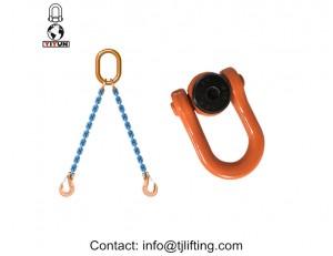 anillo giratorio de acero polipasto Aleación / M14 doble grillete giratorio