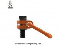 Heavy lift forged bail swivel hoist rings