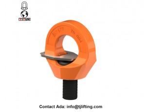 Revêtement par poudre des boulons à oeil de pivotement de couleur orange YD084