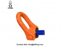 360 degree rotatability tool-free mounting swivel shackle