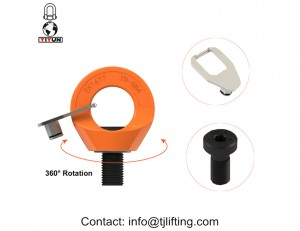 Alloy steel G80 swivel eye bolt