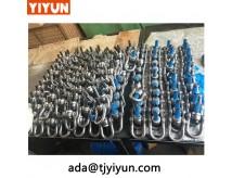 Kina dreje roterende hejsering / Rustfrit stål løftepunkt dobbelt drejelige sjækler