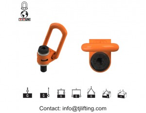 Sambungkan gigi pengangkatan untuk dimuat, cincin hoist putar 7/8-9 benang inci UNC