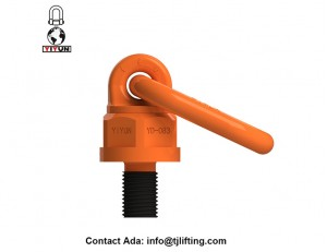 G80 42CrMo Metric size universal swivel hoist ring