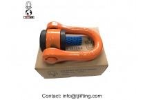 Heavy duty flexible attachment point/swivel shackle