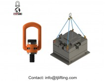 Tinggi tarik Lifting Rings G80 Hoist putar Eye Bolt