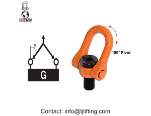 high tensile chinese lifting point central pull swivel hoist ring M64