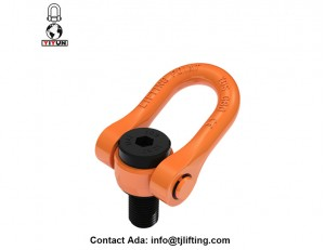Rotated 360 degree tool free mounting swivel shackle