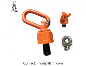 universal swivel hoist ring optimized design with bulit-in ball bearings