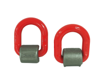 weldable machinery lifting point red D ring