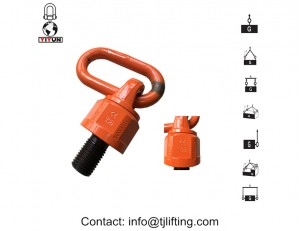 YD083 M36 WLL G80 Hoist Rings / 8000 Kg Swivel Eye Bolts Lifting Point For Rigging