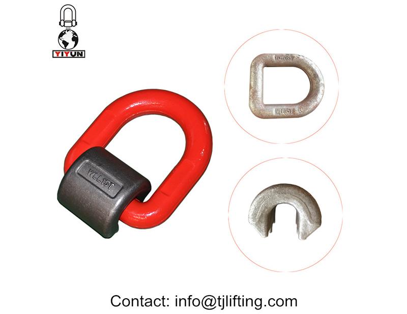 Hardware Rigning Forged Holst svejset D Ring Svirvler