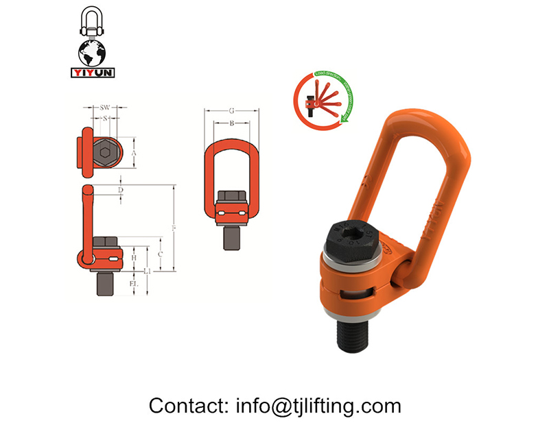 tunge drejelige taljering/Side-Pull Hoist Rings