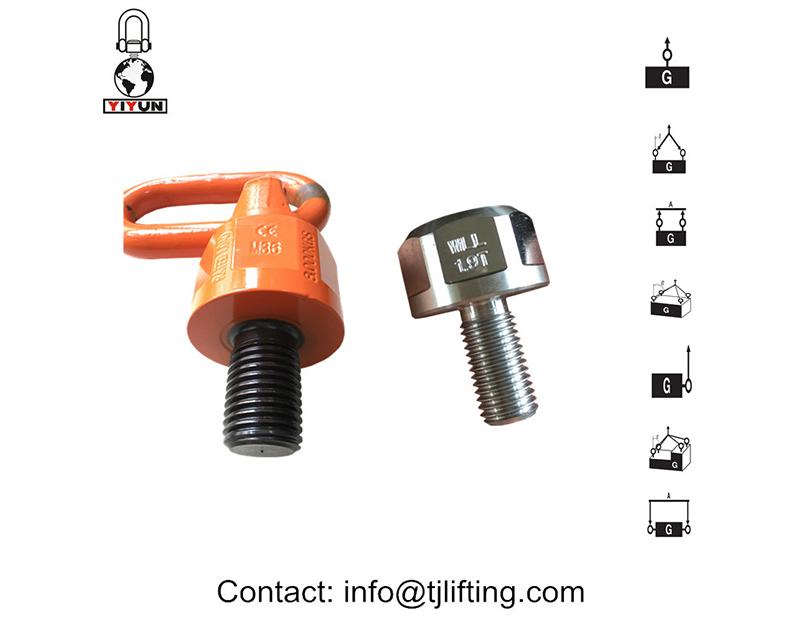 anneau de levage pivotant éviter les systèmes de harnais et la charge évaluée pendant la rotation