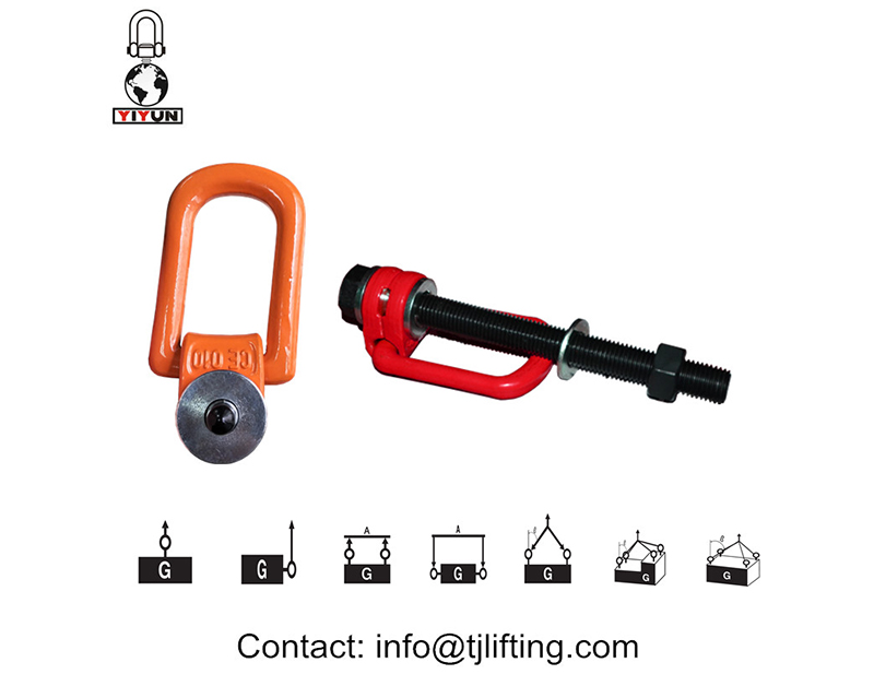 sampel penjualan m14 rigging hoist ring / pivot hoist ring