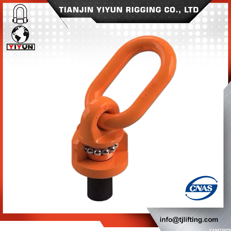 Yiyun smedet G80 orange belagt drejelig Hoist ring