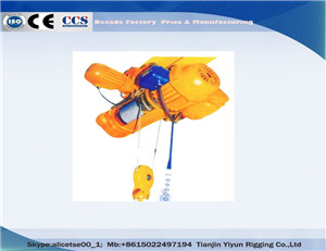 Wire Rope Push Fixed Drop Forged Steel Electrical Hoist with Chain Blocks