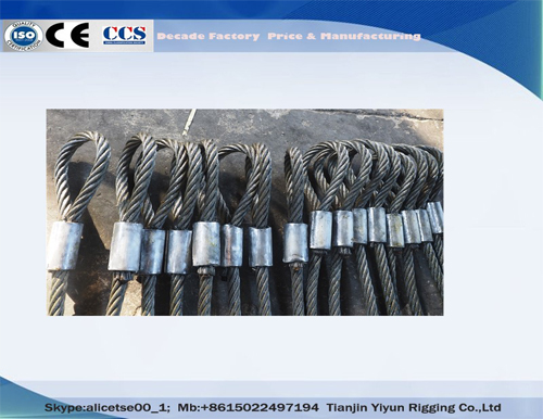 China Heavy Duty Machine Swaged Joint Soft Loop Wire Rope Slings Manufacture