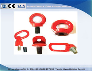China Factory YD0832 Drop Forged Screw Eye Nut  WLL from 0.4 tonnes to 35 tonnes.