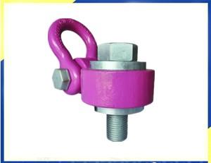 Heavy Duty Въртяща лебедка Ring WLL30T легирана стомана Pink оксид покритие, Thread Size M72, Тема Дължина сто и десет милиметраТежкотоварни въртящи подемник пръстен WLL30T сплав стомана розов оксид финал�а 110 мм
