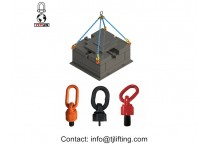 Grade 80 Forged Alloy Steel D Round Ring with Lifting Points and Wraps