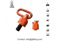 YD083 M36 WLL G80 Hoist Rings / 8000 Kg Swivel Eye Bolts Lifting Point For Rigging